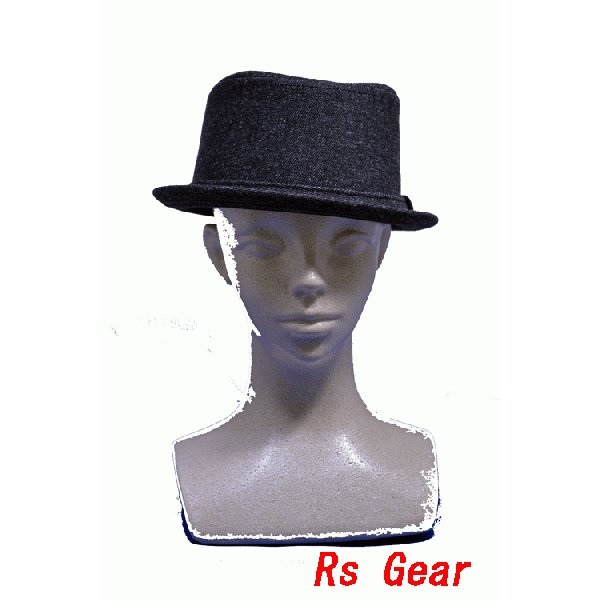 NEWYORK HAT #3038 DENIM PORKPIE  akamonbrother-rsgear 04
