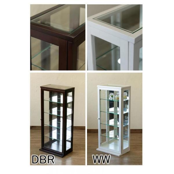 コレクションケース・タテ型ハイタイプ DBR/WW 簡易組み立て IT-C100   【送料無料】|akane-mart|04