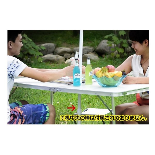 アルミ レジャーテーブル 120cm アウトドア テーブル 折りたたみ 木目調 キャンプ バーベキュー ad039 akaneashop 03