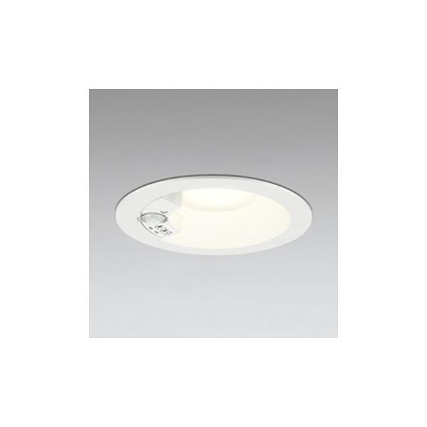 オーデリック LEDダウンライト 軒下用 白熱球60W相当 電球色 埋込穴Φ125 人感センサ付 ホワイト OD261856