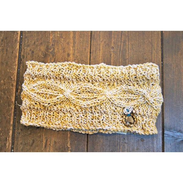 ヘアバン  GROOVY GROUPIE コットン手編みヘアバン(ナチュラル) グルービーグルーピー