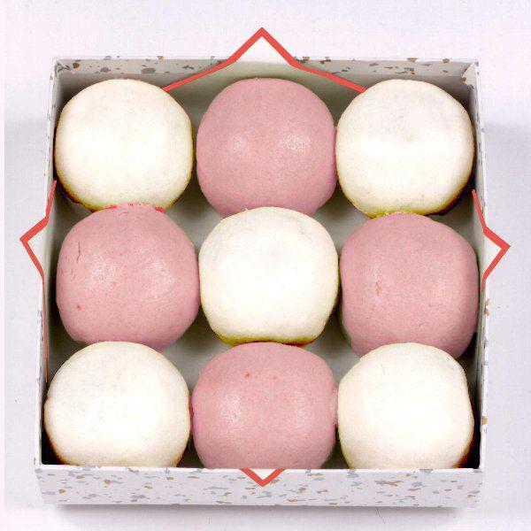 紅白饅頭 9個入 ギフト 慶事 上用饅頭|akasakaaono|02