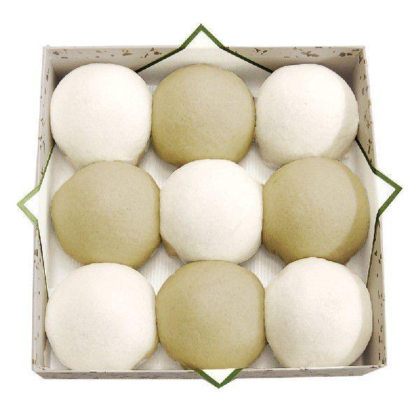 青白饅頭 9個入 ギフト 仏事 上用饅頭|akasakaaono|02