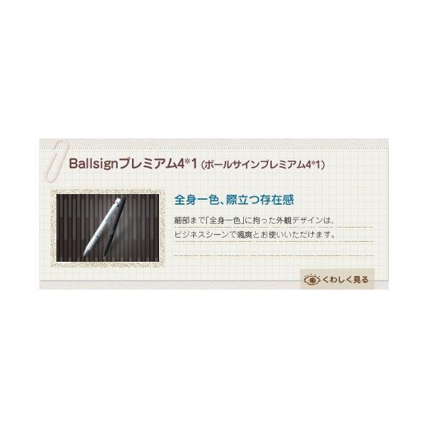 ゲルインキボールペン サクラクレパス ボールサインプレミアム 4*1 シルバー akatsuka-bs 03
