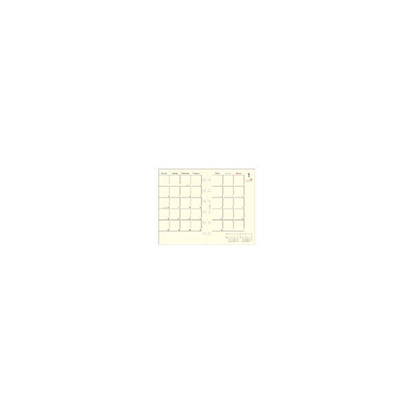 ダイアリー 手帳 ダイゴー DAIGO 2020年1月始まり システム手帳リフィル ミニサイズ6穴 1週間+横罫 E1352 akatsuka-bs 03