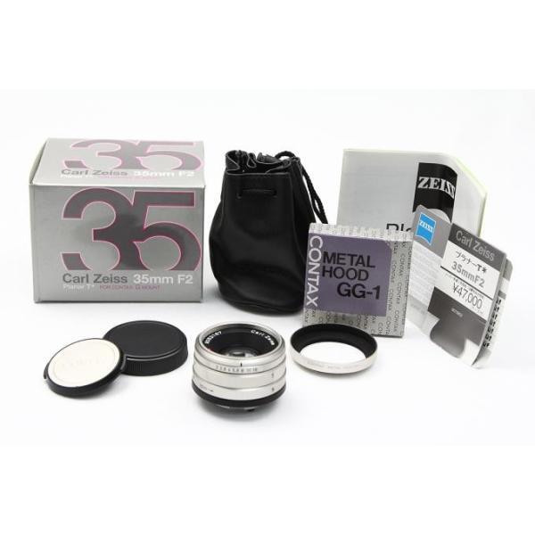 コンタックス CarlZeiss G Planar 35mm F2 レンズスードなど付属品一式付き 【K199】 akiba-ryutsu 02