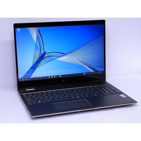 HP 3YY07PA-AAAA ノートパソコン Spectre x360 15-ch000 アッシュブラック [15.6型 /intel Core i7 /SSD:512GB /メモリ:16GB /2018年6月モデル]の画像