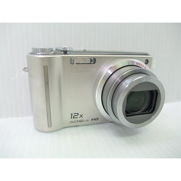 中古 コンパクトデジタルカメラ Panasonic LUMIX DMC-TZ7 シルバー