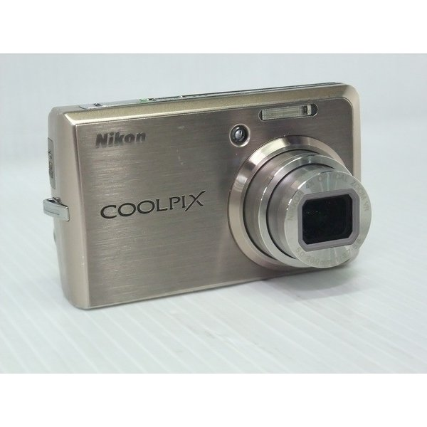 中古 コンパクトデジタルカメラ Nikon COOLPIX S600 ゴールド