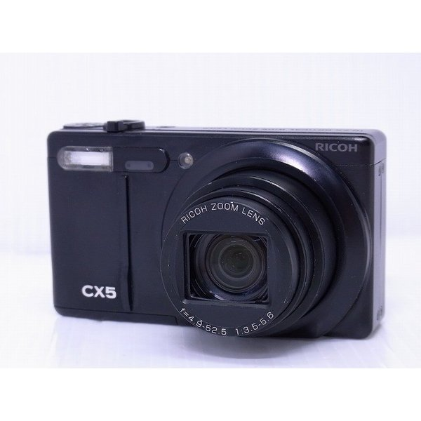 中古 コンパクトデジタルカメラ RICOH CX5 ブラック ※レンズに目立つ傷あり