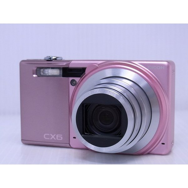 中古 コンパクトデジタルカメラ RICOH CX6 ピンク