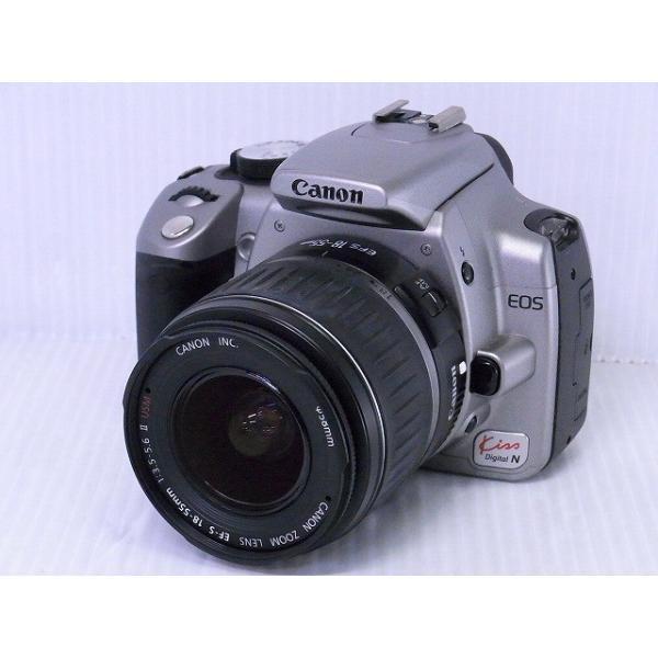 [中古] デジタル一眼レフカメラ Canon EOS Kiss Digital N シルバー・ダブルズームキット