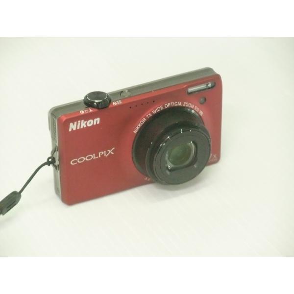 中古 コンパクトデジタルカメラ Nikon COOLPIX S6000 フラッシュレッド