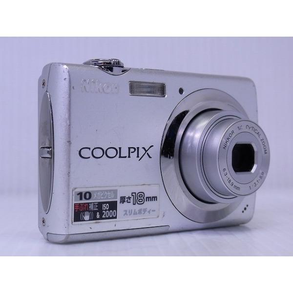 中古 コンパクトデジタルカメラ Nikon COOLPIX S220 ソフトシルバー