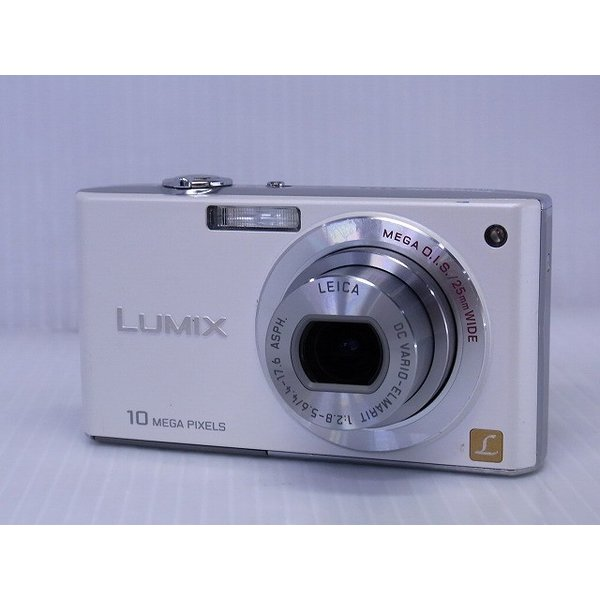 中古 コンパクトデジタルカメラ Panasonic LUMIX DMC-FX35 シェルホワイト