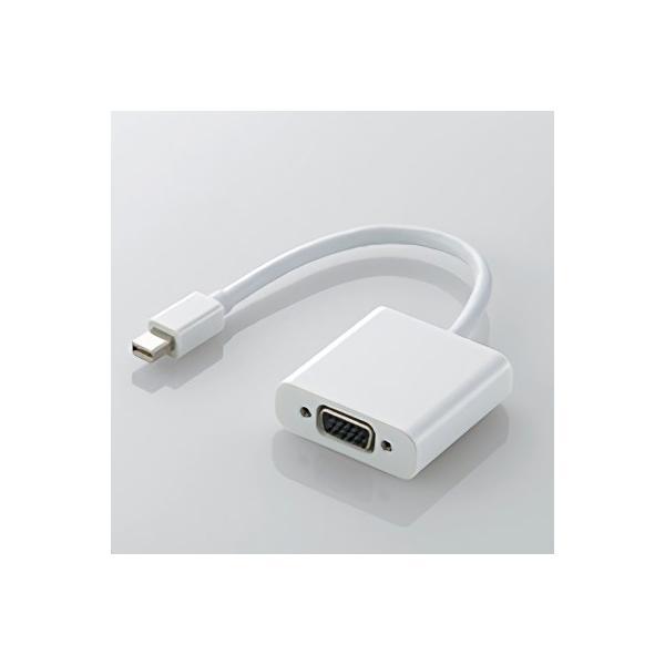 エレコム miniDisplayPort変換アダプタ AD-MDPVGAWH ホワイトの画像