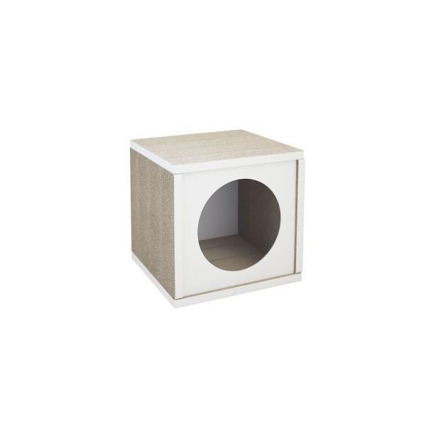 ラブリーペット キャットハウス ホワイト 猫 ハウス ケージ ダンボール
