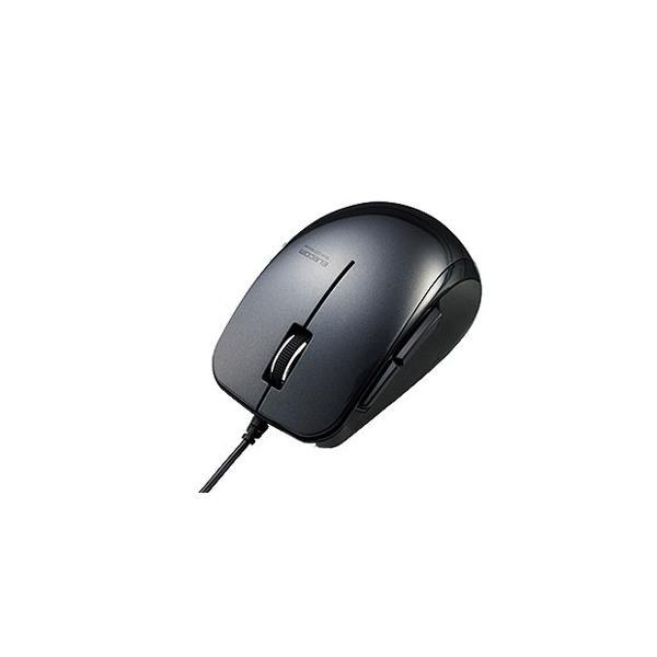 エレコム 有線マウス(5ボタン) M-BL28UBBK ブラックの画像