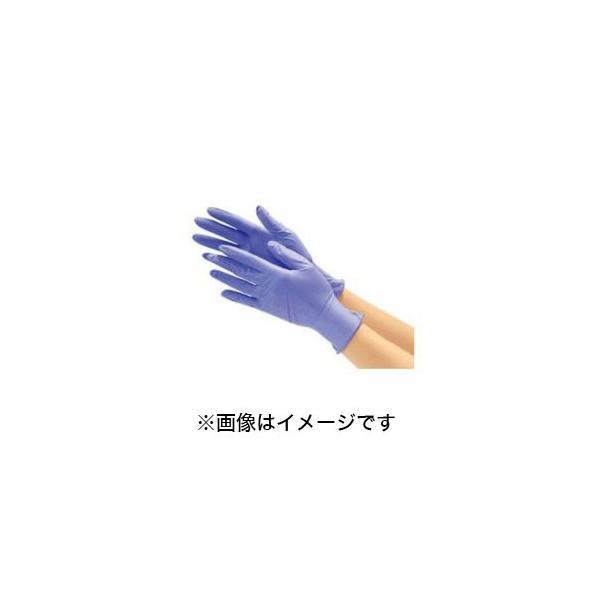 川西工業 ニトリル使いきり手袋 粉なし 250枚入 ブルー Lサイズ ♯2060