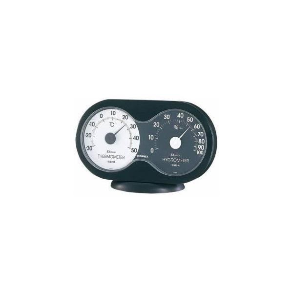エンペックス TM-2782 温度 湿度計 アキュート 温度 湿度計 卓上用 ブラック×ホワイト