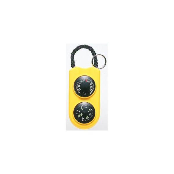 【メール便選択可】エンペックス FG-5124 温度計 コンパス サーモ&コンパス イエロー