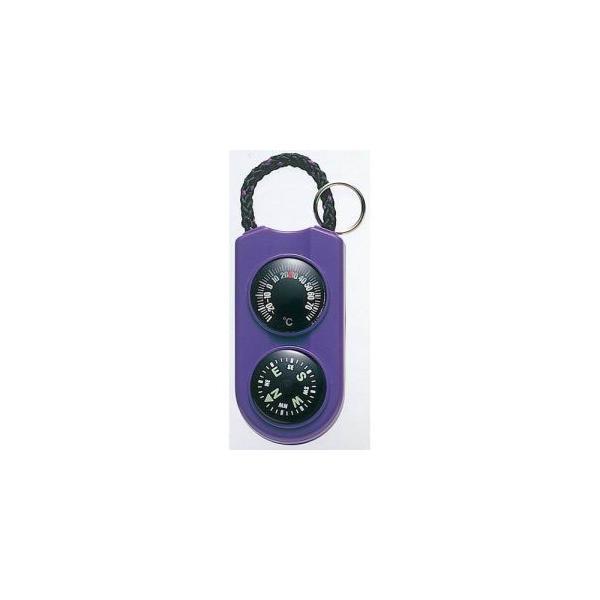 【メール便選択可】エンペックス FG-5126 温度計 コンパス サーモ&コンパス パープル