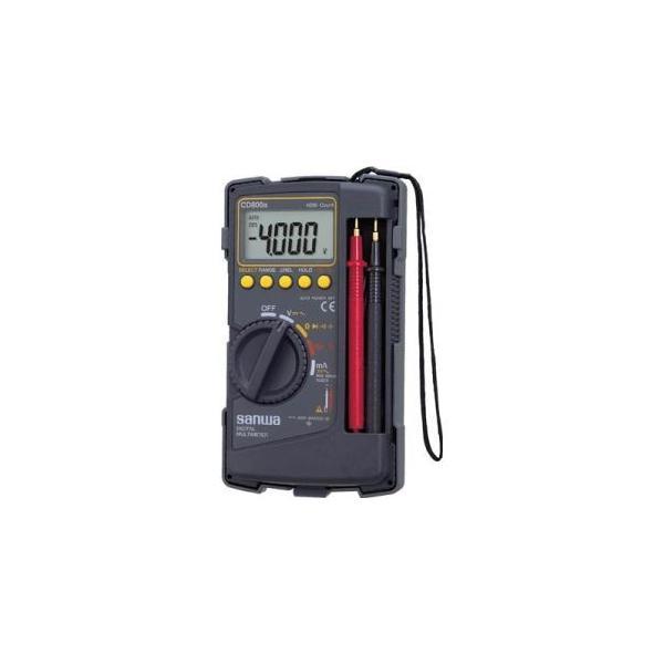 サンワ CD800a デジタルマルチメータ 保護カバー付き 三和電気計器 SANWA