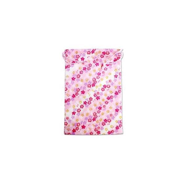 【メール便選択可】静岡木工 御朱印帳袋 桜ピンク 巾着袋