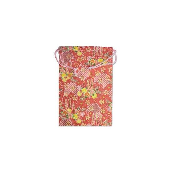 【メール便選択可】静岡木工 御朱印帳袋 雪輪 藤柄 巾着袋