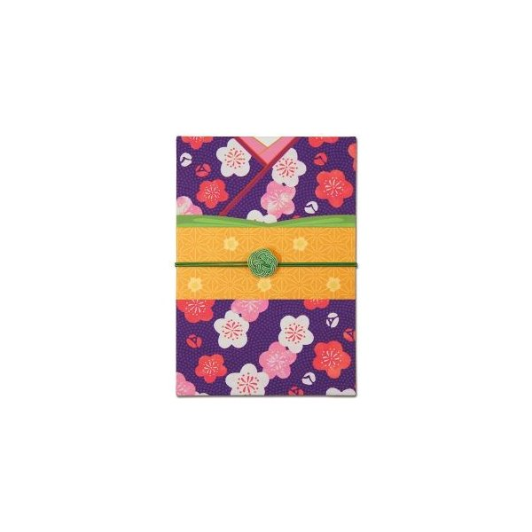 【メール便選択可】静岡木工 御朱印帳 はんなり着物 うめ 蛇腹式