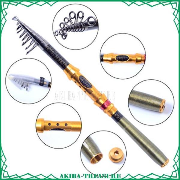 Agepoch カーボン製 炭素繊維 ロッド スピニングロッド 伸縮 振出しタイプ 携帯型 コンパクト竿 軽量 初心者 淡水