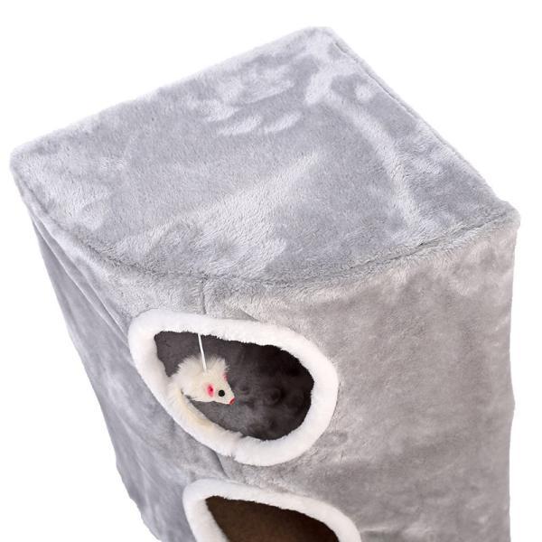 キャット猫タワー 据え置き 猫グッズ 小部屋 テラスハウス ストレス解消 ネコちゃんの遊園地 収納が便利 キャットハウス 登り台 おもちゃ|akida|04