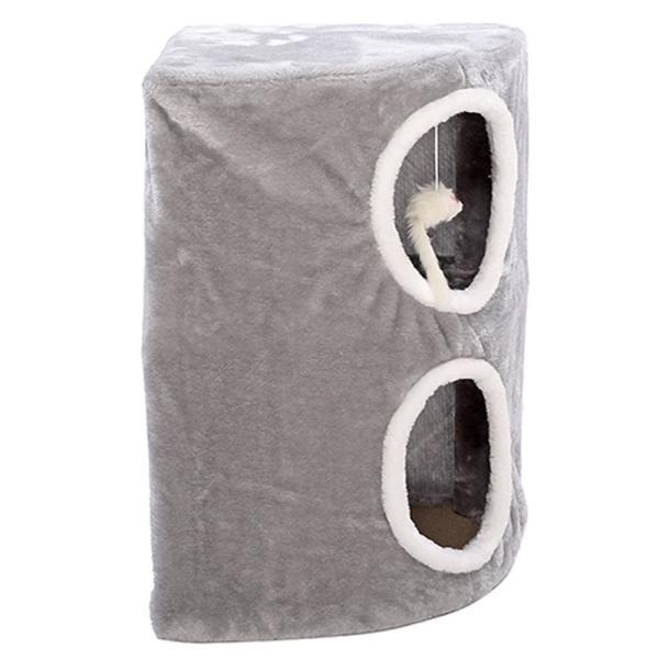 キャット猫タワー 据え置き 猫グッズ 小部屋 テラスハウス ストレス解消 ネコちゃんの遊園地 収納が便利 キャットハウス 登り台 おもちゃ|akida|05