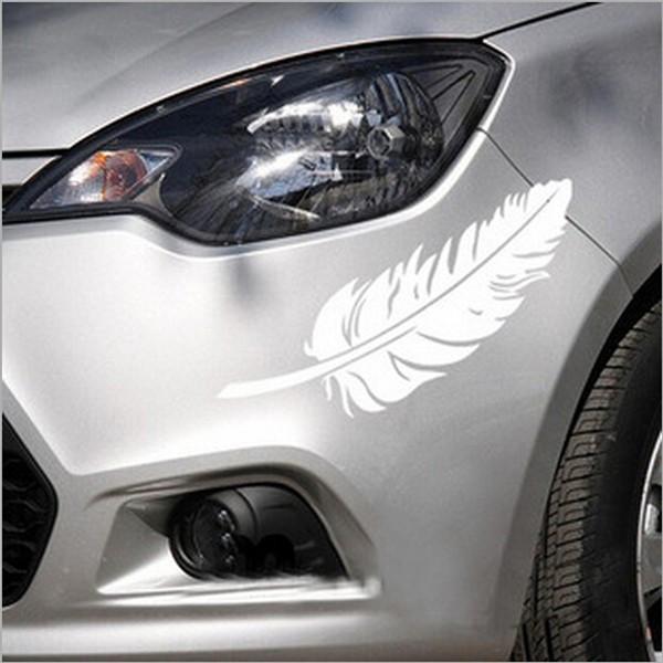車ステッカー 2枚セット カッティングステッカー デカール シール 反射シート 蛍光 セーフティーサイン カーアクセサリー