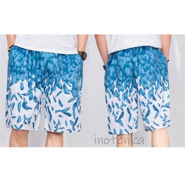 水着 メンズ サーフパンツ 男の子 ボーイズ ボードパンツ スイムショーツ ハンズポン M-4XL 海水パンツ 五分丈 花柄 速乾 水泳 水陸両用|akiko-taogeshop|07