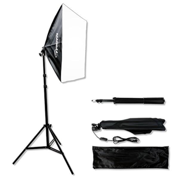 撮影照明 照明機材 スタジオライト スタンド ソフトボックス付 撮影キット|akiraprostore