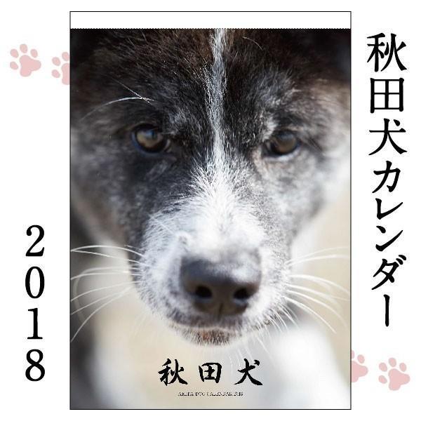 秋田犬カレンダー2018(A2カレンダー×1)犬 カレンダー 動物 かわいい もふもふ|akitagokoro