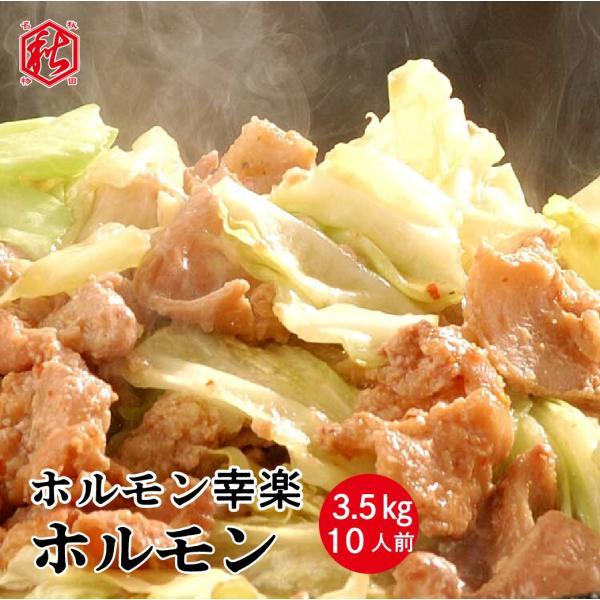 ホルモン 3.5kg(約10人前) 秋田鹿角名物豚ホルモン焼き 焼肉  バーベキュー 甘辛い秘伝のタレ[ホルモン幸楽]冷凍|akitagokoro