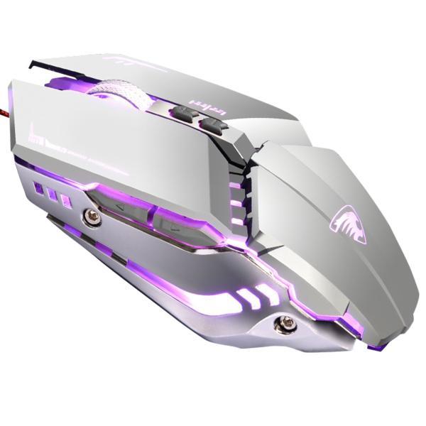 ゲーミング マウス レーザー 有線 静音 パソコン 光学式 led 薄型 ゲーミング led搭載 充電 軽量 マクロ設定 USB 高精度 dpi 4dpi 4種 PS4 送料無料 akitou-net 20