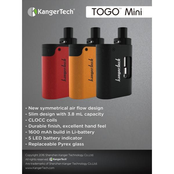 電子タバコ VAPE Kangertech TOGO Mini Starter Kit|akivape