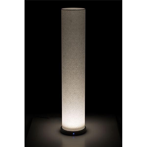 LED 和室 モダン照明 LF800-acスタンドライト手漉き和紙麻葉 〔日本製〕