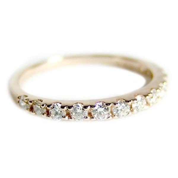 ポイント5倍!ダイヤモンド リング ハーフエタニティ 0.3ct 11号 K18 ピンクゴールド 0.3カラット エタニティリング 指輪 鑑別カード付き