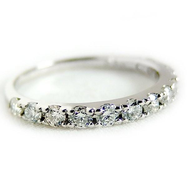 ポイント5倍!ダイヤモンド リング ハーフエタニティ 0.5ct 11号 プラチナ Pt900 ハーフエタニティリング 指輪