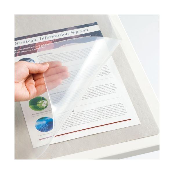 <title>TANOSEE 再生透明オレフィンデスクマット シングル 1190×690mm 1枚 ×5 最安値 デスクマット</title>