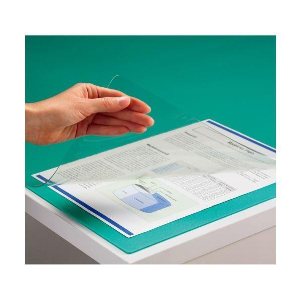 <title>TANOSEE PVCデスクマット ダブル 下敷付 使い勝手の良い 1190×690mm グリーン 1枚 ×5 デスクマット</title>