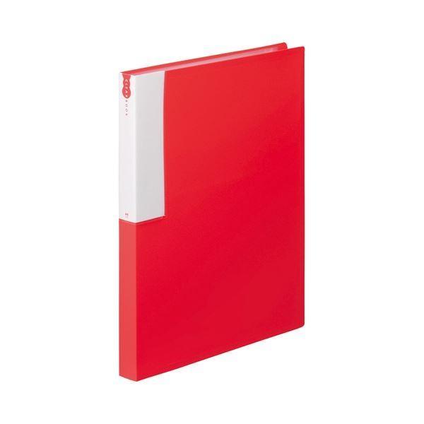 TANOSEE 即納最大半額 クリヤーブック クリアブック A4タテ 36ポケット 背幅24mm レッド 1 アウトレット ×5 10冊