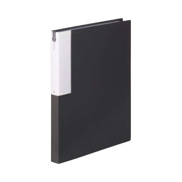 TANOSEE 春の新作続々 クリヤーブック クリアブック A4タテ 36ポケット 背幅24mm ダークグレー メーカー公式 10冊 ×5 1