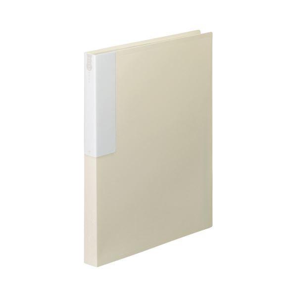 TANOSEE クリヤーブック クリアブック A4タテ 36ポケット 10冊 高級品 1 当店一番人気 オフホワイト ×5 背幅24mm
