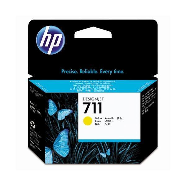 HP711 インクカートリッジ イエロー 毎日激安特売で 営業中です 29ml 1個 格安 価格でご提供いたします CZ132A ×3 染料系