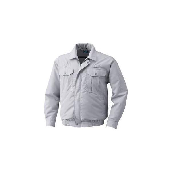 フルハーネス仕様 空調服 作業着 ファンカラー:グレー カラー:シルバー L ポリエステル KU9054F 売り出し リチウムバッテリー 4年保証